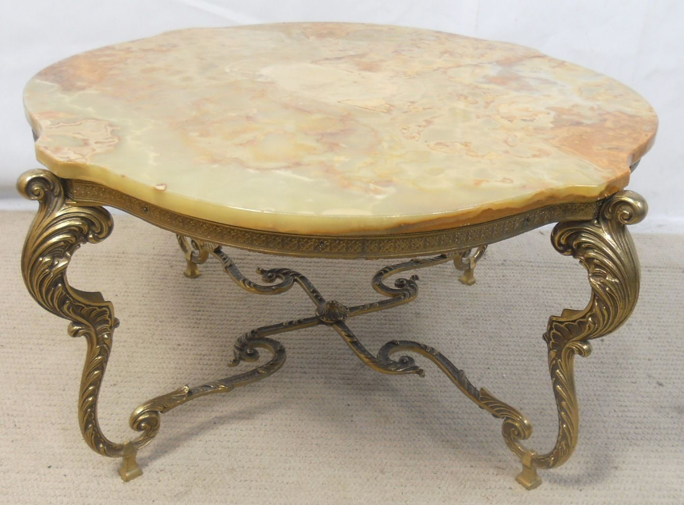 Chair antique chairs uk antique desk chairs antique dining - Onyx Marble Top Ornate Brass Base Coffee Table Sold